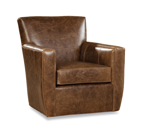 Huntington House - Leather Swivel Chair - 7333-56