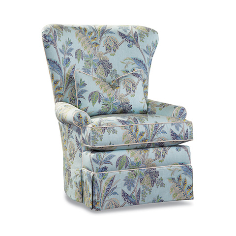 Huntington House - Wing Chair with Skirt - 3338-50