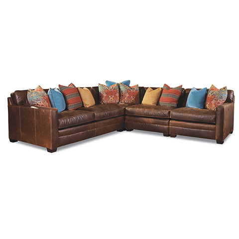 Huntington House - Leather Sectional - 7164 SECT