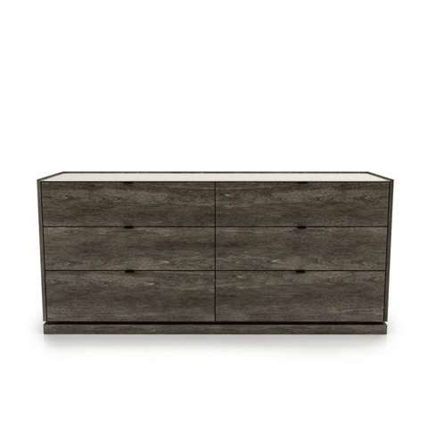 Image of Cloé Six Drawer Dresser