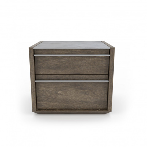 Image of Clark Two Drawer Night Table