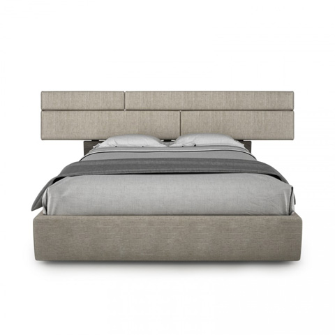 Image of Plank Upholstered Queen Bed