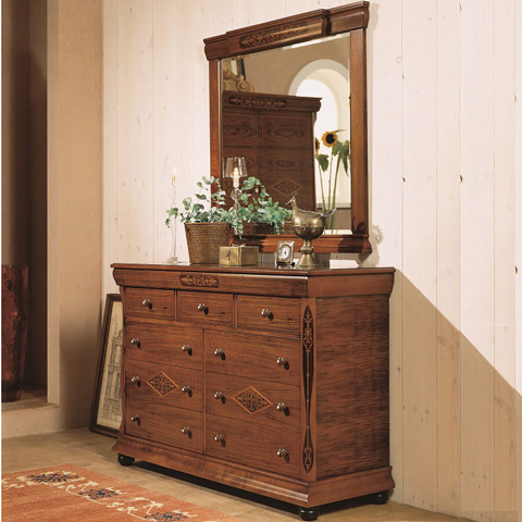 Image of Dresser and Mirror