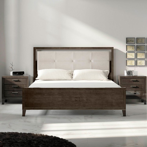Image of Bed-Upholstered