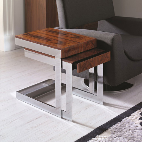 Hurtado - Nesting Tables with Drawer - Q71016