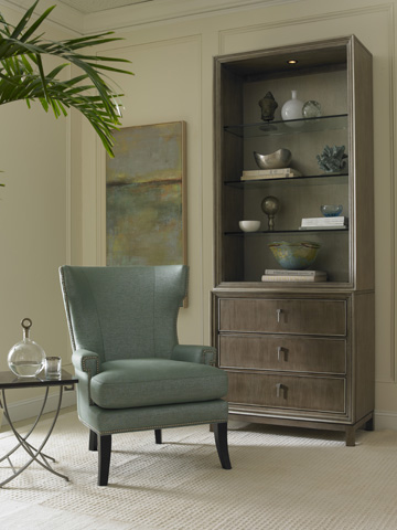Hickory White - Wing Chair with Nailhead Trim - 4906-01