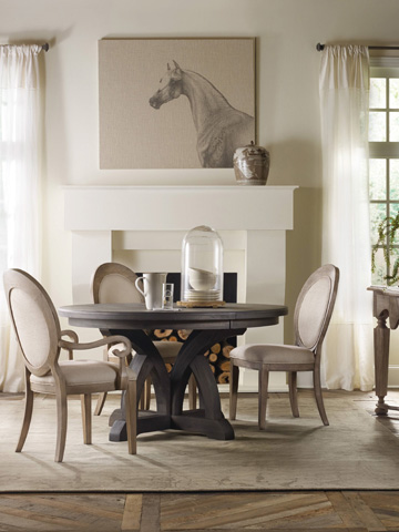 Hooker Furniture - Corsica Dark Round Dining Table - 5280-75203