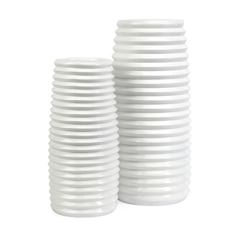 IMAX Worldwide Home - Daley Ribbed Vases - Set of 2 - 10327-2