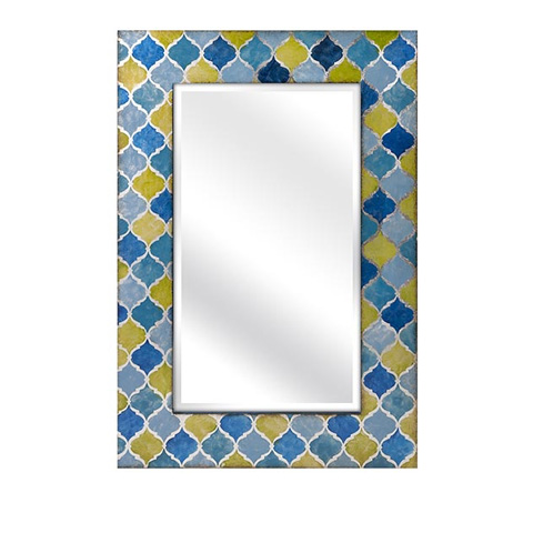 IMAX Worldwide Home - Penelope Blue And Green Mirror - 10437