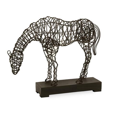 IMAX Worldwide Home - CKI Anatole Woven Horse Statuary - 10836