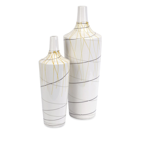 IMAX Worldwide Home - Curasso Retro Finish Vases-Set of 2 - 11221-2