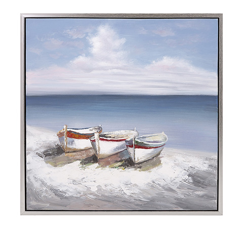 IMAX Worldwide Home - Seaside Oil On Canvas With Frame - 11502