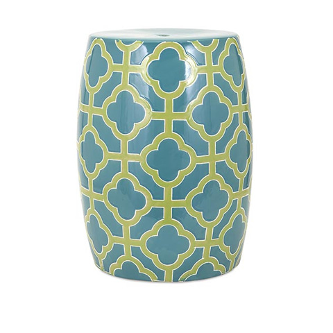 IMAX Worldwide Home - Quadra Ceramic Garden Stool - 11709