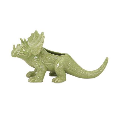 IMAX Worldwide Home - Dinosaur Green Ceramic Planter - 11745