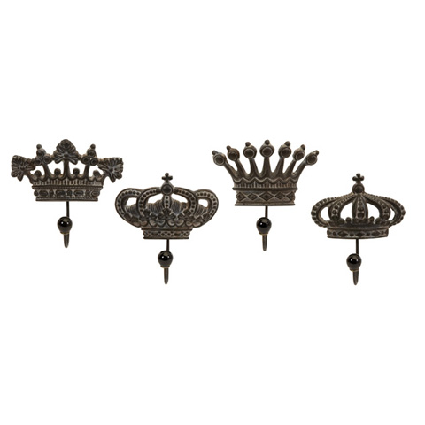 IMAX Worldwide Home - Regent's Crown Hooks - Set of 4 - 12853-4