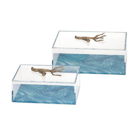 IMAX Worldwide Home - Serene Acrylic Box - Set of 2 - 13206-2