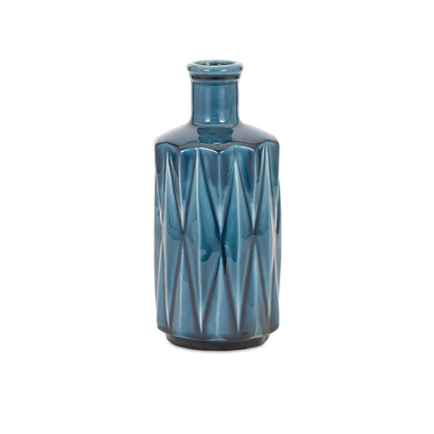IMAX Worldwide Home - Alena Blue Small Vase - 13307