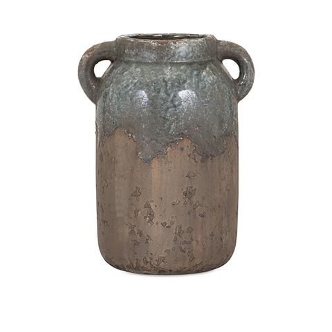 IMAX Worldwide Home - Bardot Blue Stone Large Ceramic Vase - 13325