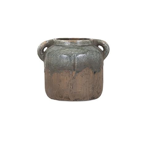 IMAX Worldwide Home - Bardot Blue Stone Small Ceramic Vase - 13326