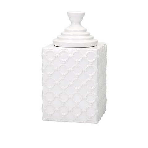IMAX Worldwide Home - Sullivan Large Ceramic Canister - 13531