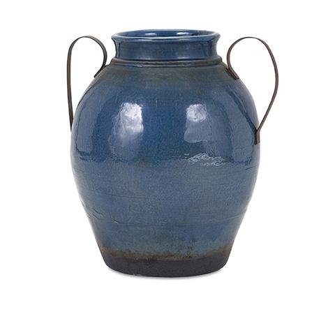 IMAX Worldwide Home - Harrisburg Large Vase with Metal Handle - 13610