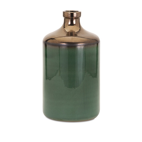 IMAX Worldwide Home - Melenia Large Green and Bronze Vase - 13700