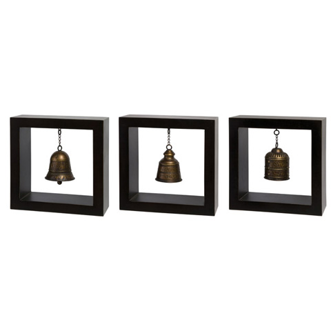 IMAX Worldwide Home - Framed Bells - Set of 3 - 1375-3