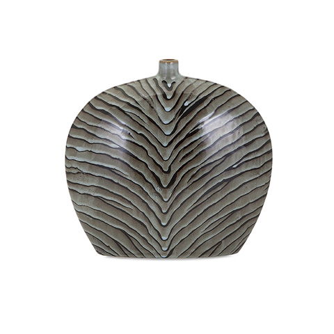 IMAX Worldwide Home - Inka Short Ceramic Vase - 13824