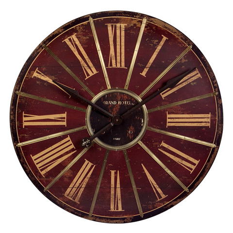 IMAX Worldwide Home - Large Red Wall Clock - 16077