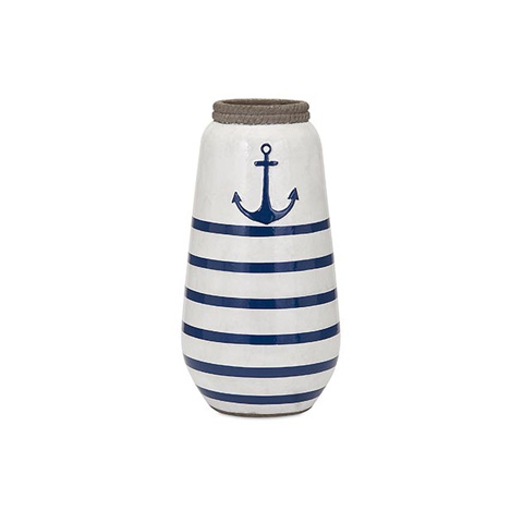 IMAX Worldwide Home - Anchor Small Hand Painted Vase - 18262
