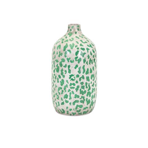 IMAX Worldwide Home - Emerald Safari Short Vase - 18266