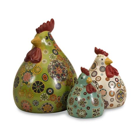 IMAX Worldwide Home - Canvon Chickens - Set of 3 - 19098-3