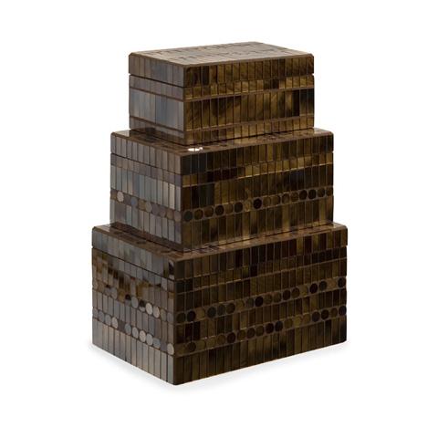 IMAX Worldwide Home - Chai Mosaic Boxes - Set of 3 - 1948-3