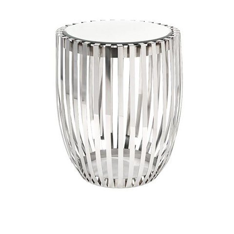 IMAX Worldwide Home - Xanthia Steel and Mirror Accent Table - 19951