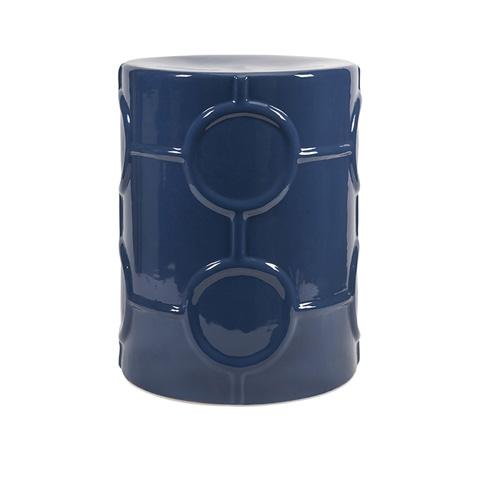 IMAX Worldwide Home - Essentials Marine Blue Garden Stool - 25257