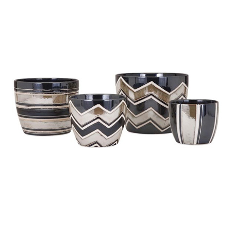 IMAX Worldwide Home - Arden Planters - Set of 4 - 25362-4