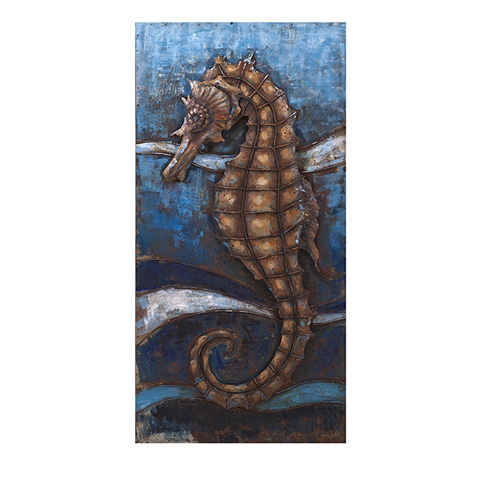 IMAX Worldwide Home - Seahorse Dimensional Wall Décor - 26510