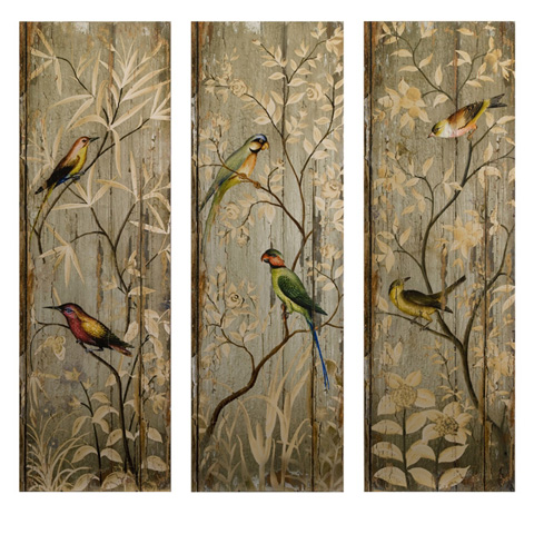 IMAX Worldwide Home - Calima Bird Wall Decor - Set of 3 - 27626-3