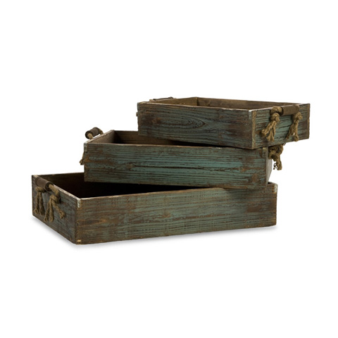 IMAX Worldwide Home - Northfork Wood Trays - Set of 3 - 29106-3