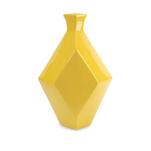 IMAX Worldwide Home - Chantal Large Yellow Ceramic Vase - 30502