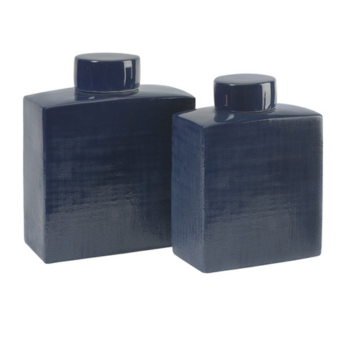 IMAX Worldwide Home - Wilfred Ceramic Canisters - Set of 2 - 30513-2