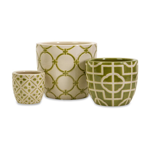 IMAX Worldwide Home - Lattice Containers - Set of 3 - 35233-3