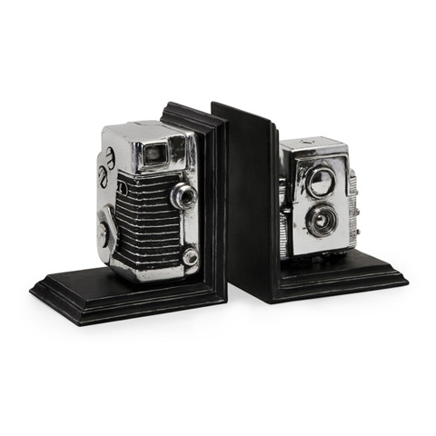 IMAX Worldwide Home - Vintage Camera Bookends - 36133