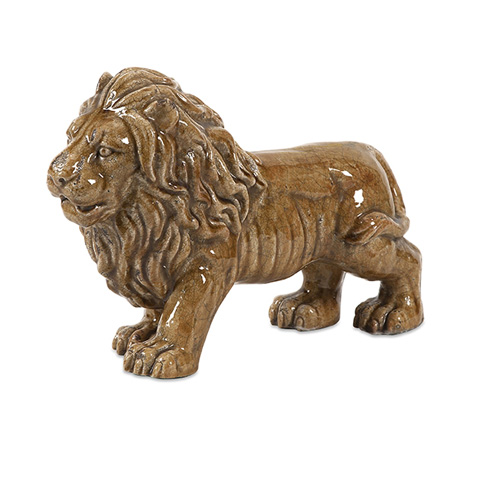 IMAX Worldwide Home - Baton Ceramic Lion Statuary - 40299