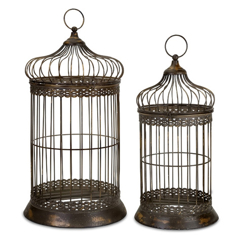 IMAX Worldwide Home - Byzantine Dome Bird Cages - Set of 2 - 47126-2