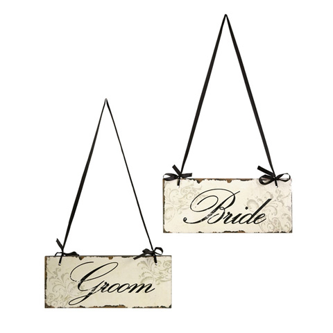IMAX Worldwide Home - Bride And Groom Decorative Sign - 47244-2