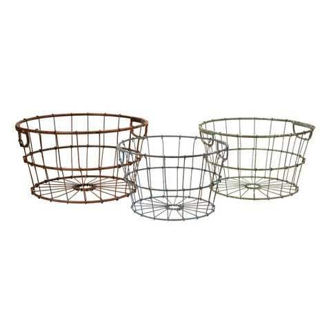 IMAX Worldwide Home - Kristley Metal Basket - Set of 3 - 47331-3