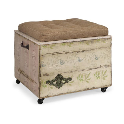 IMAX Worldwide Home - Ella Elaine Crate Storage Ottoman - 47472