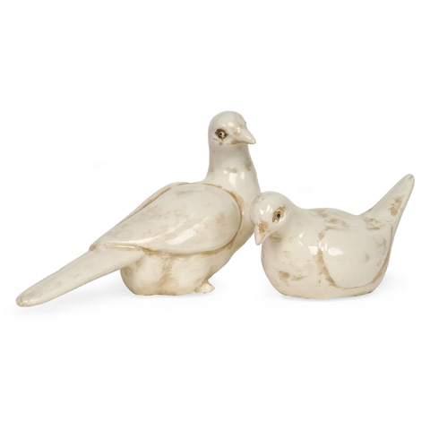 IMAX Worldwide Home - Doves - Set of 2 - 4753-2