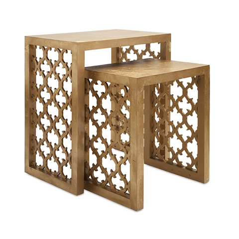 IMAX Worldwide Home - Canaberra Nesting Tables - Set Of 2 - 47564-2